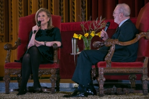Arianna Huffington and Leonard Lopate at Castle Conversations